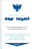 HOTEL CAP NEGRET, MUNDOMAR DOLPHINS IN REVERSE, Llave Clef Key Keycard Karte - Hotel Labels