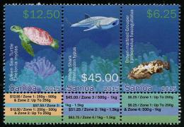 SAMOA, 2015, MNH, DEFINITIVES,PART III, HIGH VALUES, TURTLES,WHALE SHARK, FISH, 3v - Turtles