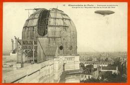 CPA 75014 PARIS - OBSERVATOIRE Terrasse Supérieure - Coupole Equatorial De La Tour De L' Est ° F. Fleury * Dirigeable - Arrondissement: 14