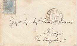 Milano Staz. 1870. Annullo Numerale Piccolo Cerchio Punti - 1861-78 Victor Emmanuel II