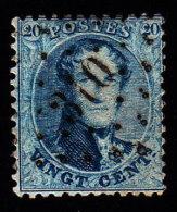 BELGIUM - Scott #15 King Leopold I / Used Stamp - 1863-1864 Medallions (13/16)