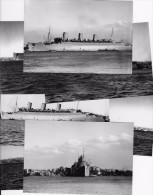 Cunard Line QUEEN MARY Entering Sydney1941 Seven Set (7) Modern Real Photo-card Type Postcard - Piroscafi