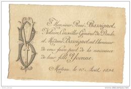 Morteau Conseil Du Doubs Naissance 1894 - Naissance & Baptême