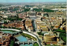 ROMA   VEDUTA AEREA    VIA DELLA  CONCILIAZIONE     (VIAGGIATA) - Panoramic Views