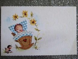 TRES JOLI FAIRE PART / GAUFRE / 1973 / R N°166 - Birth & Baptism