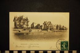 CP, 14, HOULGATE Châlets De La Plage N° 39 Dos Simple Voyagé En 1908 - Houlgate