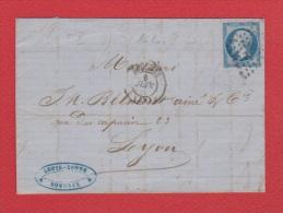 Lettre   //  De Roubaix //  Pour Lyon  //  6 Juin 1861 // - Marcophilie (Lettres)