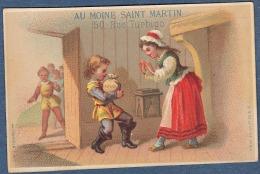 Chromo Au Moine St Martin Grands Magasins De Nouveautés Scène Du Petit Poucet Litho Bognard - Trade Cards