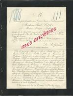 Avis De Décès 1888-Marie-Louise LEFRANC Ep Paul Petit 25 Ans-à Paris Rue Du Faubourg St Honoré-inhumation Neuilly - Décès