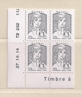 FRANCE  (D16 - 8229 )   2013  N° YVERT ET TELLIER  N° 4766   N** - Coins Datés