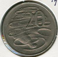 Australie Australia 20 Cents 1966 KM 66 - Monnaie Décimale (1966-...)