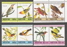 Nevis 1985 Mi 268-275p 200th Birthday Of John James Audubon. Birds /200. Geburtstag Von John James Audubon. Vögel **/MNH - Passereaux