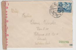 Slo001a/ Europäischer Postkongress 2 Kr. Auf Zensiertem Brief Nach Wien 1942 - Slowakische Republik