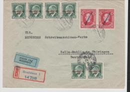 Slo002a/ Überdruck 1939 Auf Bedarfs-Luftpost-Einschreiben - Slowakische Republik