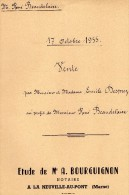 VP1610 - Acte Entre Mr E. DESPREZ à SAINTE - MENEHOULD &  Mr R.  BEAUDELAIRE Vente De Terres à  LA  NEUVILLE - AU - PONT - Manuscripts