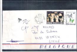 Lettre de R�p.populaire du Congo vers Belgique - Echecs (� voir)
