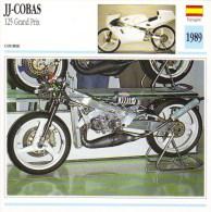 JJ-Cobas 125cc Grand Prix Racing   -  1989   - Fiche Technique Moto (Espagne) - Fiches Illustrées