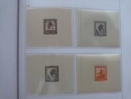 "Ruanda-Urundi 1944 ** MNH cob BL1/BL4  "" MESSAGES "" cat: 540,00 Euro"