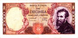 10000 LIRE MICHELANGELO / 20 MAGGIO 1966 / SPL - [ 2] 1946-… : République