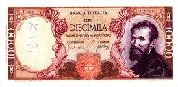 10000 LIRE MICHELANGELO / 20 MAGGIO 1966 / SPL - [ 2] 1946-… : Républic