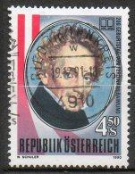 AUTRICHE  Ferdinand Raimund 1990 N°1822 - 1981-90 Used