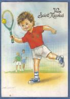 Carte Postale Tennis Par N. Dufourt Trés Beau Plan - Tennis