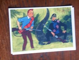 TINTIN Reproduction  CARTE POSTAL  TINTIN Et HADDOCK ASSIS SUR UN CROCODILE  HERGE - Tintin