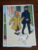 TINTIN Reproduction  CARTE POSTALE TINTIN MARCHE AVEC HADDOCK  HERGE - Tintin