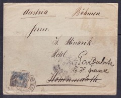 СOVERS-39  LETTER FROM SPAIN TO PARDUBICE. - 1889-1931 Royaume: Alphonse XIII