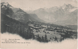 AK Dent De Morcles Glacier De Trient Mont - Blancet Dent Du Midi Vus De Villars Gletscher Waadt Wallis Schweiz Suisse - VD Waadt