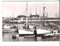 29 CONCARNEAU - Le Port -  Bateaux De Pêche  Immatriculation CC2895  CC3322CPSM CAP Flamme Postale Au Dos - Concarneau
