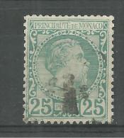 Monaco No: 6  Y Et T Oblitérér, Coté 90 Euros, Used PRINCE CHARLES III 1885 - Monaco