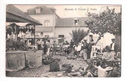 Cape Verde S.Vicente Cabo Verde MERCADO MARKET PLAIN BACK POSTCARD - Cape Verde
