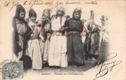 ALGERIE  -   Femmes De L'Extrême Sud - 7 Femmes - 2 Scans - Algérie