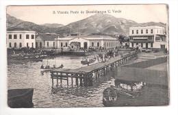 Cape Verde S.Vicente Cabo Verde HARBOUR PONTE DE DEZEMBARQUE  PLAIN BACK POSTCARD - Cape Verde