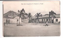 Cape Verde S.Vicente Cabo Verde RUA DOS COQUEIROS  PLAIN BACK POSTCARD - Cape Verde