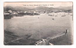 Cape Verde S.Vicente Cabo Verde VISTA DO PORTO GRANDE PLAIN BACK POSTCARD - Cape Verde