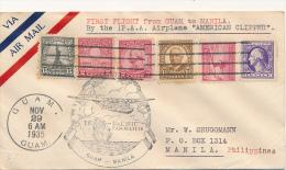 GUAM - 1935 , PAA First Flight Guam To Manila - Guam