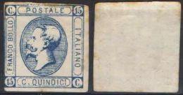 D45) V.E.II 15 CENT. AZZURRO II TIPO 1863 NUOVO - 1861-78 Victor Emmanuel II.