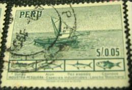 Peru 1952 Fishing And Fish $0.05 - Used - Peru