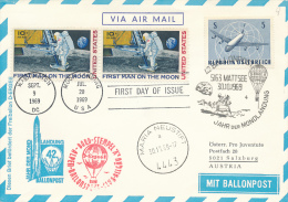 MARIA NEUSTIFT - 1969 , Jahr Der Mondlandung , Ballonpost - Ganzsachen
