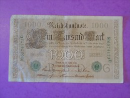 Allemagne 1000 Mark 1910 P45b - [ 2] 1871-1918 : Empire Allemand