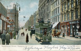 POST CARD SCOTLAND SAUCHIEHALL STREET GLASGOW 1905 Beautifull Colors - Lanarkshire / Glasgow