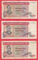 Zaire 6 Billets Dans L 'état - Zaire