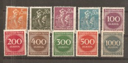 Alemania-Germany Yvert  239-48 (MH/*) - Ungebraucht