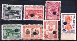 G)1935 PERU, PUNCH PROOFS, SPECIMEN, ICA-LAKE HUACACHINA-GRAPES-COTTON BOLL-ZUNIGA Y VELAZCO & PHILIP IV-SUPREME GOD OF - Peru