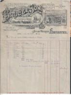 Lion.Of Elastic Tape Factory.South Wigston.Brunswigk Mills Brand.1909.Elastischem Band-Fabrik. - Royaume-Uni