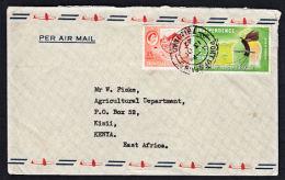 A0383 TRINIDAD & TOBAGO 1962, Cover Port Of Spain To Kenya - Trindad & Tobago (1962-...)