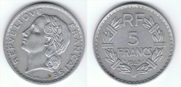 FRANCIA 5 FRANCOS 1949 - J. 5 Francos