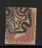 Grande-Bretagne (GB) Victoria 1841 - Penny Rouge Planche 30 BG - Used Stamps